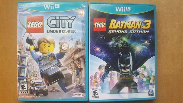 2 jocuri nintendo wii u lego city si lego batman regiune usa