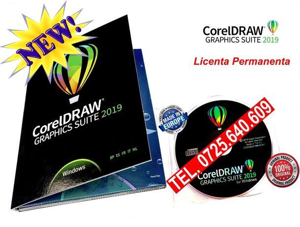 CorelDRAW Graphics Suite 2019-DVD SIGILAT-Licen. Permanenta Made in EU