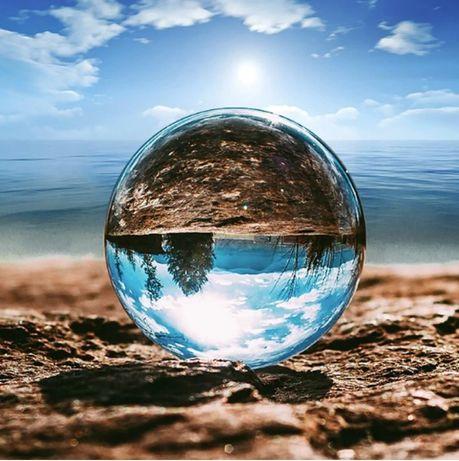 Кристална топка за фотография стъклена сфера за снимки декорация