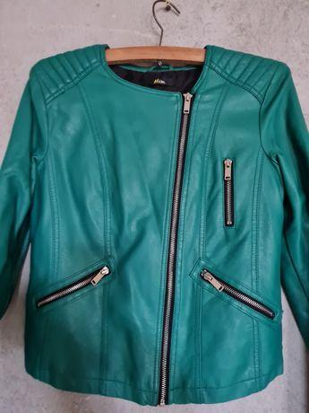 Jachetă piele verde