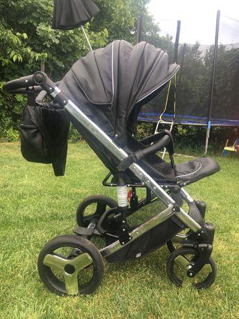 Детска количка Tako Junama Speed Chrome черна кожа