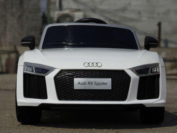 Mașinuta electrica pentru copii Audi R8 Spyder 2x45W 12V #Alb
