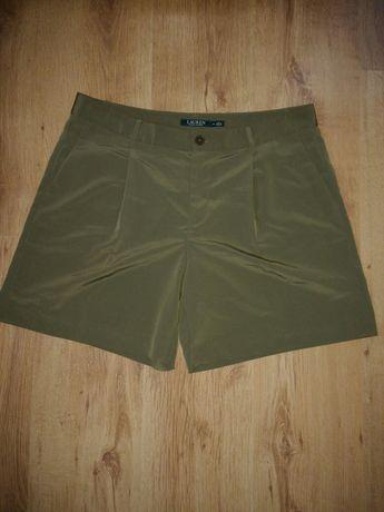 Pantaloni scurți de damă Ralph Lauren kaki luciosi mărimea L