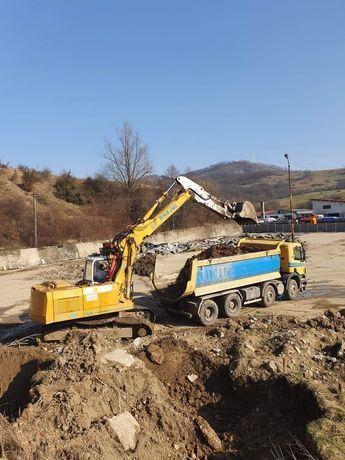 Excavari demolari piconari transport nisip sort  buldoexcavator