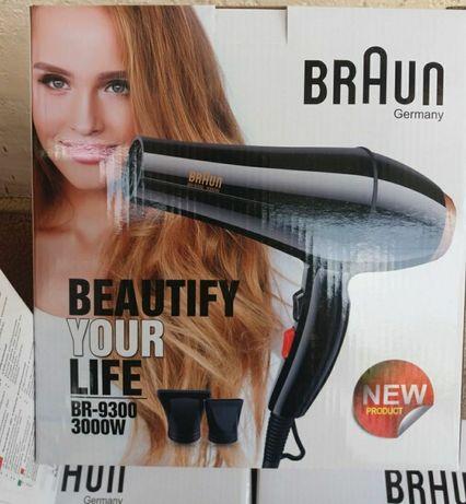 Фены для волос BRAUN 3000W новые в упаковке