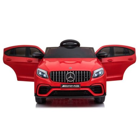 Masinuta electrica Mercedes GLC63s 70W 12V cu Scaun Tapitat #Rosu