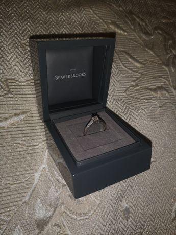 Годежен пръстен: платина с диаманти