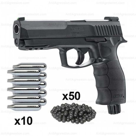 Pistol Airsoft/Bile de cauciuc/POWER PACK/20j/Co2+Bile