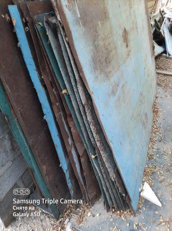 Металлические листы, советские, толщина 4мм