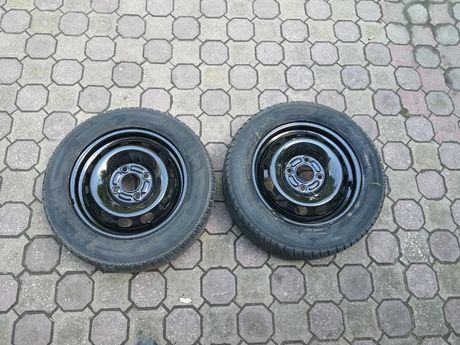 2 железни джанти 14 4х108 Ford със зимни гуми R14 185/60 Kleber