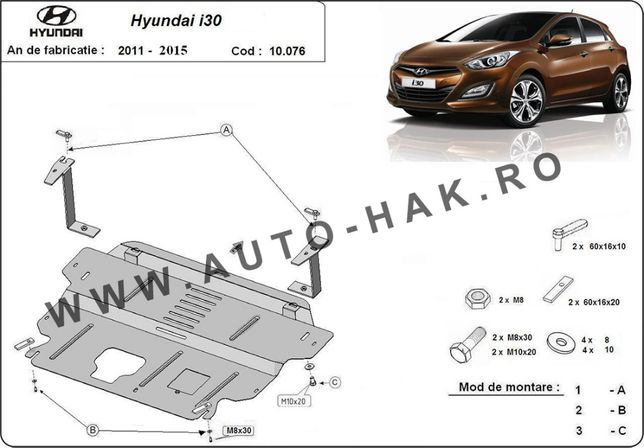 Scut motor metalic Hyundai i30 2011-2014
