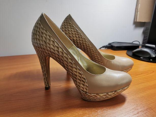 Pantofi piele, noi, 39