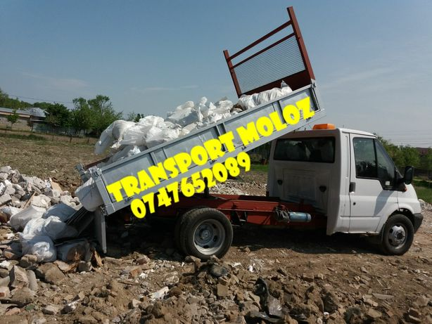 Transport moloz nisip Balast Pamant vegetal Demolari