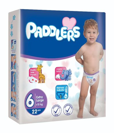 38 Buc Scutece Copii Paddlers, -35%, X Large, +15kg, Marime 6