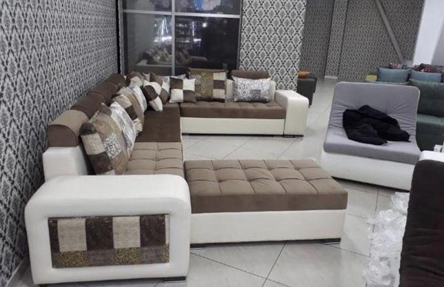 Большой угловой диван Жасмин