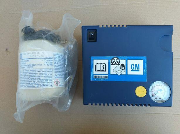 Compresor umflat roti+solutie kit pana original GM OPEL produs Nou180W