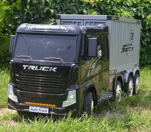 Camion electric pentru copii cu Remorca TIP container BJJ2011  #Black