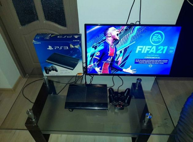 Play Station 3 (PS3) Slim Modat 25 de Jocuri FIFA 21/GTA 5/FIFA 19/NFS