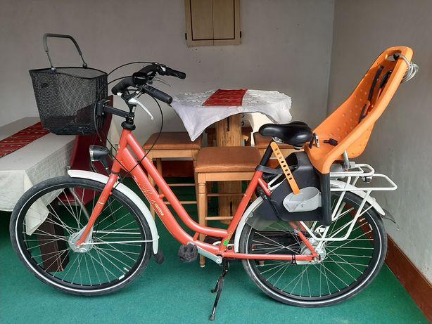 Bicicleta cu scaunel copil