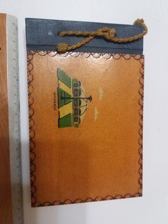 Album coperte din lemn 21 ×13 cm, 18 file , Cooperativa Munca Manuală