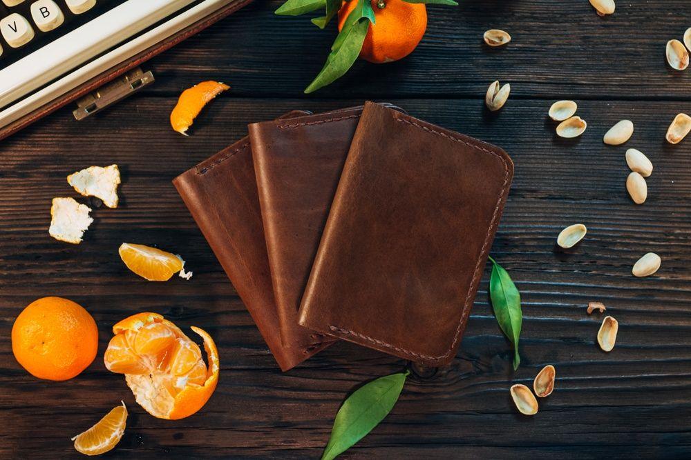 Portofel din piele naturala. Confectionat manual! Blaj - imagine 1