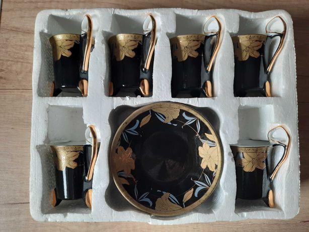 Set cesti portelan, YAMASEN placate cu aur 24k