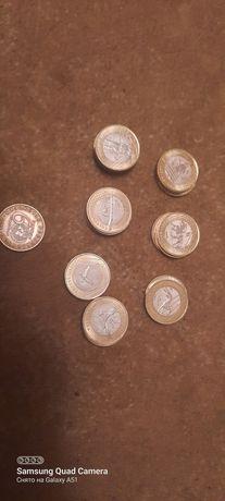 Коллекционные монеты  жеты казына  и юбилейная 60 лет.
