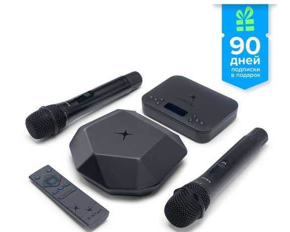 X star karaoke box с микрофонами