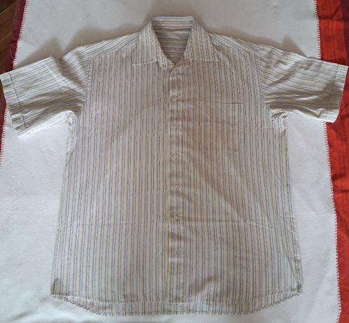 Качествена мъжка карирана риза за едър мъж, 100% памук.