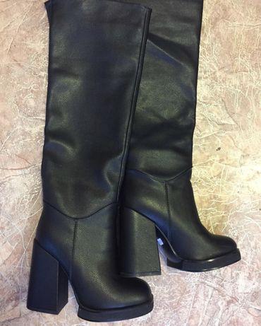 Сапоги кожаные зима новые! Недорого