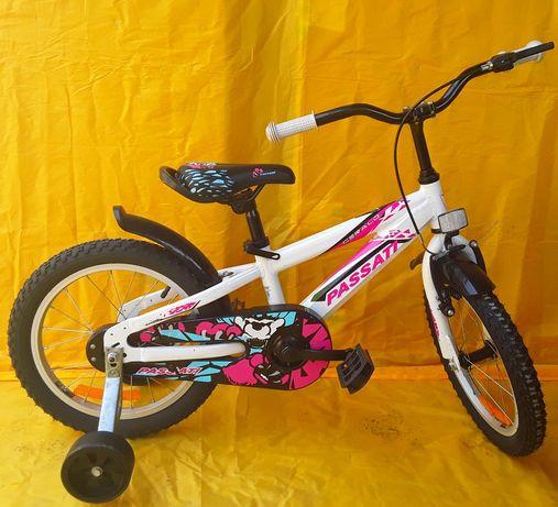 Bicicleta PREMIU PASSATI 16 recomandată copiilor 4 - 7 ANI - NOUĂ