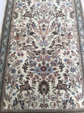 Superb covor oriental,lana,manual,pictorial- flori si animale,Franta