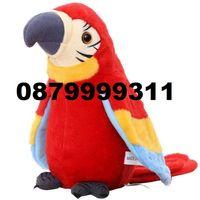 Плюшен говорещ папагал играчка робот електронен Повтарящ всяка дума +