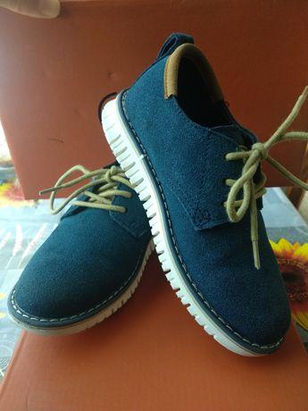 Детски обувки естествен велур