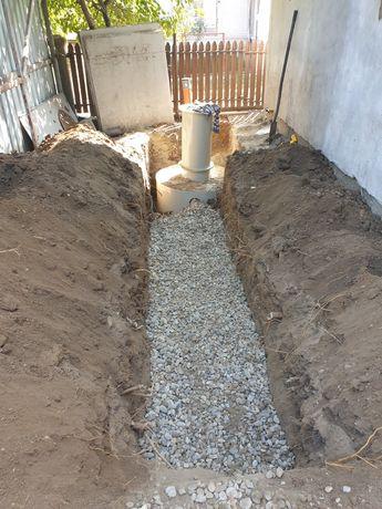 Montaj fosa septica canalizari pluviale si menajere