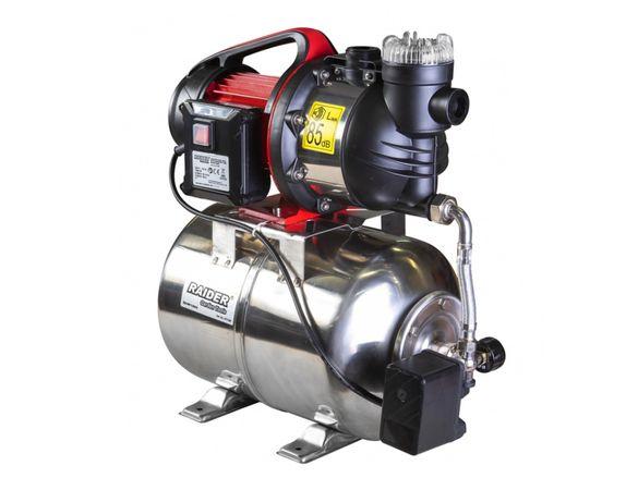 Хидрофор 1300W, 3 бар, 80Л/мин, напор 48м Inox+ RAIDER RD-WP1300S