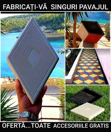 TIPARE PAVAJ forme pavele constructi dale matrite piese unelte beton