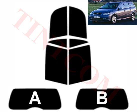 Opel Astra G (5 врати, комби, 98 - 04) Фолио за затъмняване на стъкла