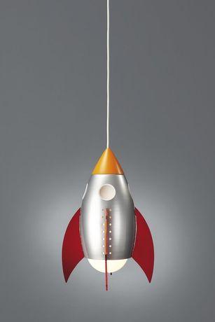 Lumina camera copil forma de racheta