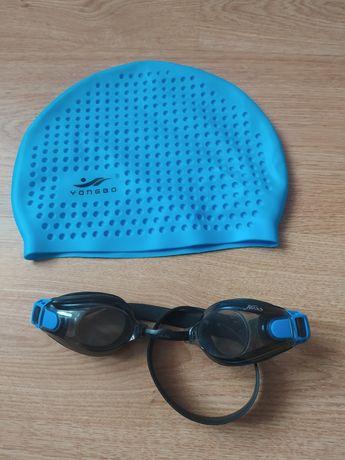 Шапочки, очки для плавания