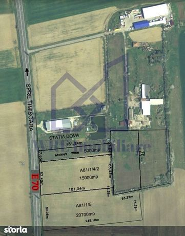 De vanzare teren intravilan (1.5 HA), DN 59, SAG