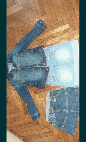 Costum din jeans fetițe 2-3 ani