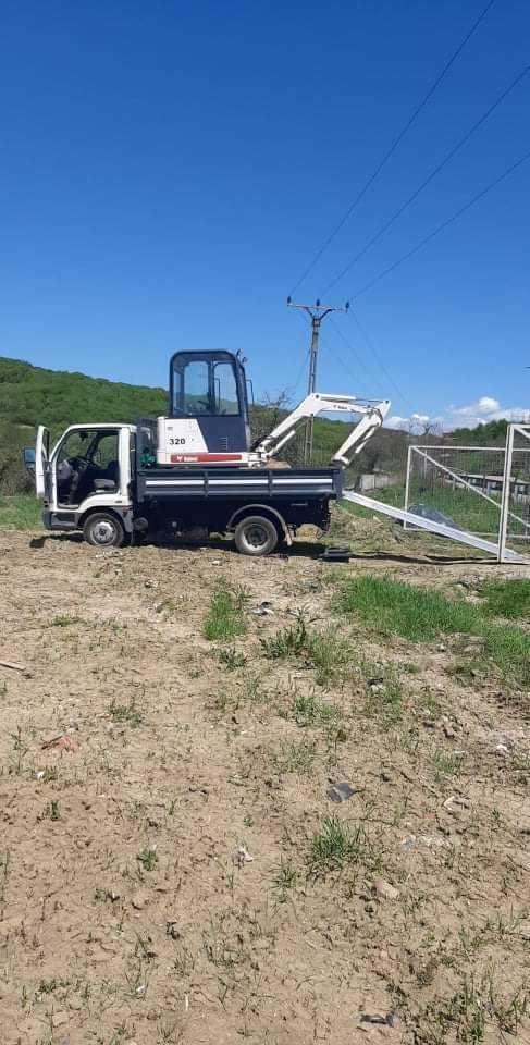 Execut lucrari cu miniexcavator si transport basculabil