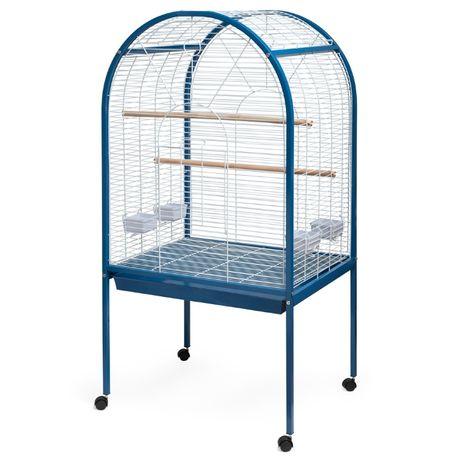 Клетка за голям папагал отваряща се отгоре син овал