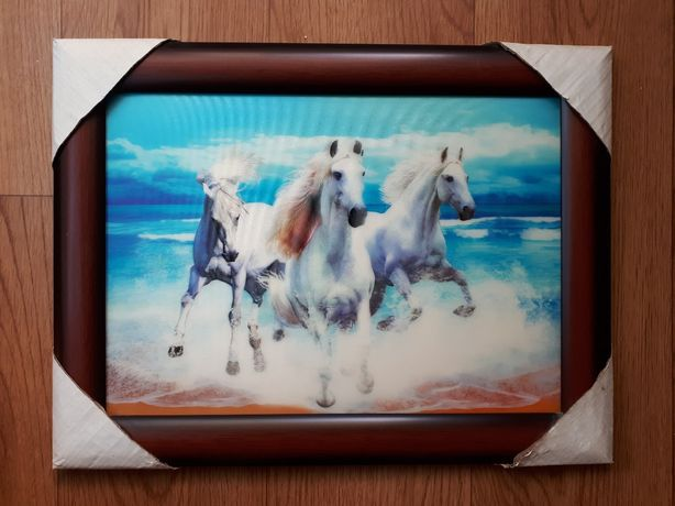 "Картина 3D ""Три белых коня"""