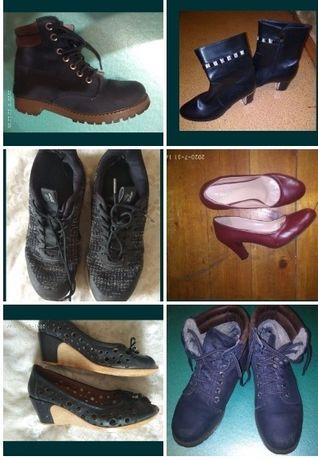 Кроссовки и ботинки 37 р. Туфли 38 и 40, полусапожки 40 р.
