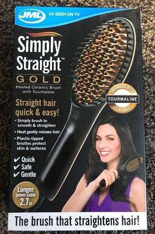 Четка за изправяне на коса Simply Straight Deluxe Gold
