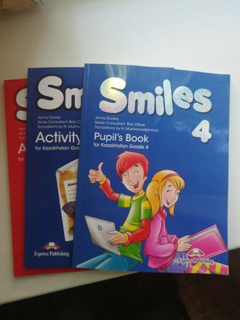Английский язык 4 класс 3 класс Smiles учебник + рабочая тетрадь