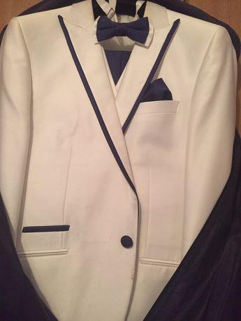 Costum Mire alb albastru