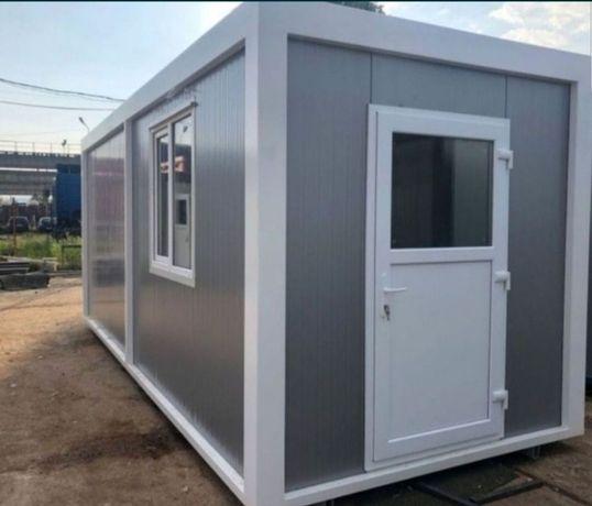 Container containiere modulare birou vitrina cabina de paza șantier